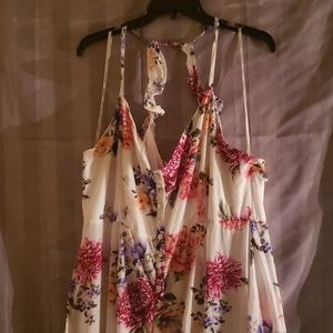 Forever21 floral maxi dress with buttons size 2x